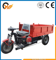 Excellent quality electric three wheels dump vehicles/strong and sturdy three wheels dump vehicles/cargo dumper price