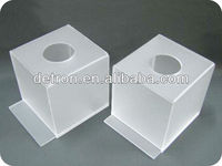 Square acrylic decorated tissue boxes