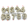 fashion cheap price silver numbers charms wholes sale business