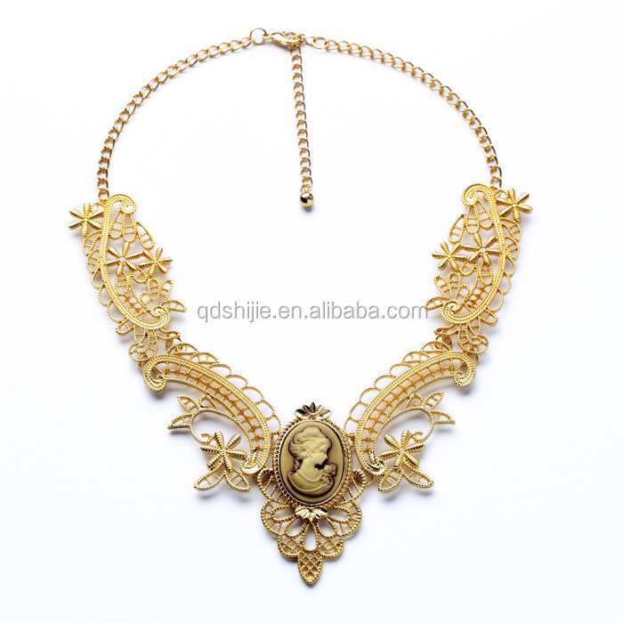 Vintage Style Fashion Necklace Antique Gold Chain