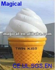 Giant inflatable promotional ice cream model