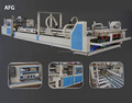 2017 hebei cnagzhou high quality easy operation automatic carton gluer folder machine low price