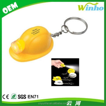 Winho hot sales promotional gifts Hard Hat & Mining LED Keylights