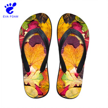 OEM heat transfer printing eva beach water slippers shoes walk sandals