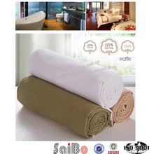 100% cotton high quality white soft Cotton Blanket
