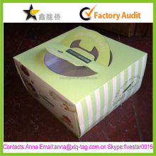 2015 Best price new design custom birthday paper cake box with handle