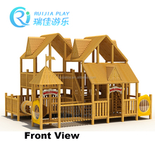 Wooden outdoor playhouse with slide - Kids Outdoor Playhouse With Slide