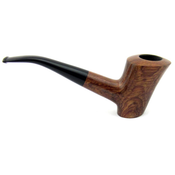 Ebony Wood Pipe Handmade Briar Brown Smoking Pipe