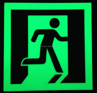 photoluminescent exit sign/glow in the dark signage