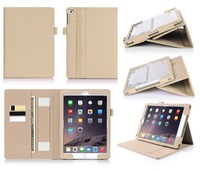 Design Your Own Fashion Case PU Leather Tablet Wallet Case For iPad Air 2