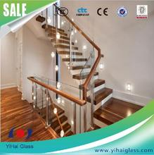 Best price safety tempered glass railing stairs glass