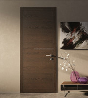 Forest Bright Interior Modern Walnut V-Groove Flush Door Design
