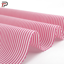 64% Cotton 33%Nylon 3%Spandex Pink Stripe Yarn Dyed Woven Fabric for Shirt