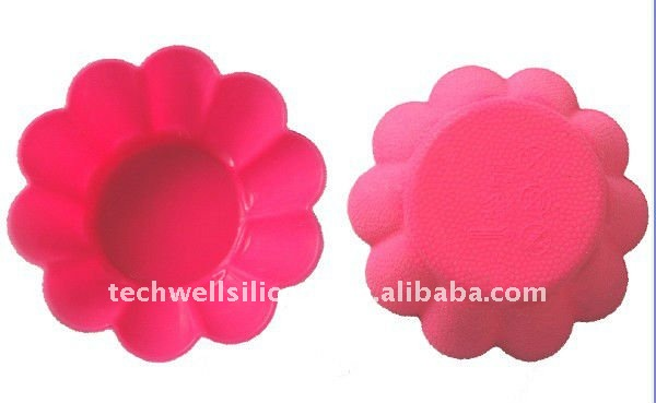 KC-036 min flower shape silicone cupcake cup