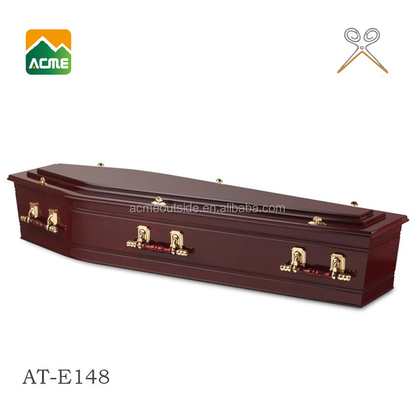 AT-E148 wholesale best price coffin with satin liners