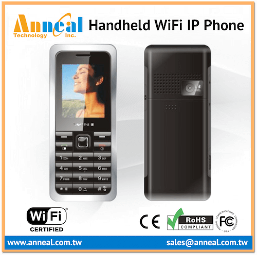 Handheld Easy to Carry VoIP SIP V2 Dual Mode IP WiFi GSM Phone