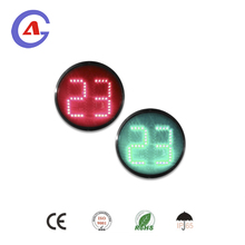 Red yellow green 400mm traffic light countdown timer module 2 digit led countdown timer