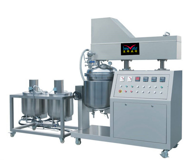 Factory wholesale 150-3000L stainless steel hydraulic lifting vacuum mixer homogenizer of CE and ISO9001 standard