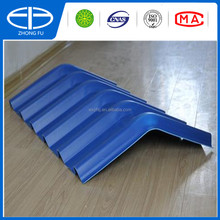 ocean blue new building material ASA synthetic resin roof tiles,PVC roof sheets