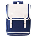 Stock Trendy High Quality 100% Canvas Material Multifunction Navy Blue Novelty School Bag
