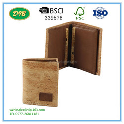 Natural Cork wallet Credit Card Organising Wallet