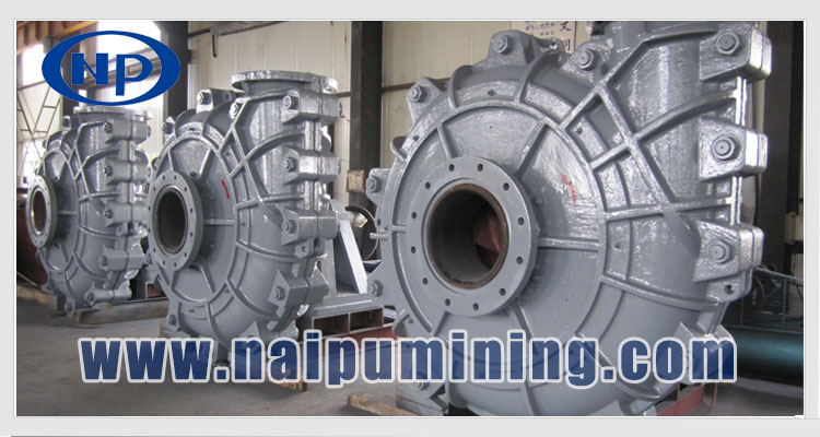 Mineral heavy duty pump for mining slurry process