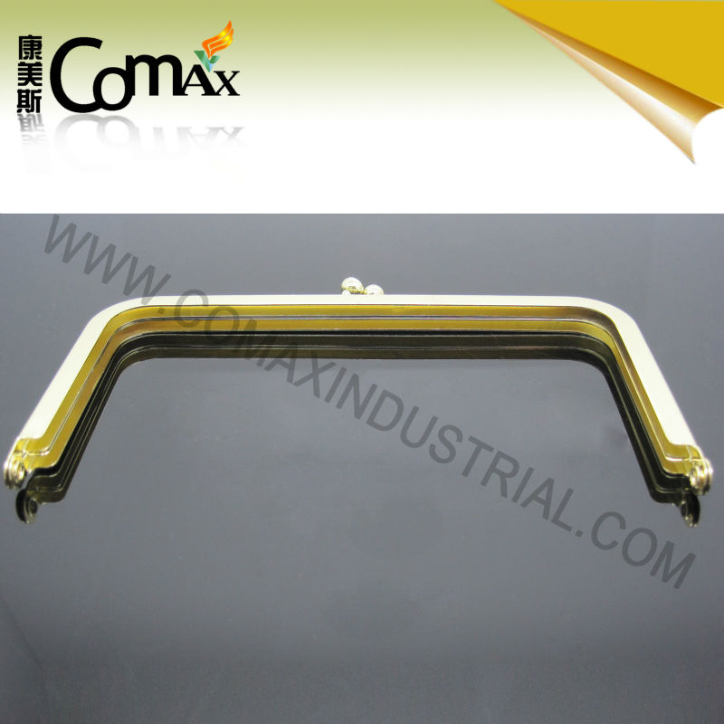 New Product Fashion Bag Purse Frame Gold Metal Purse Fram