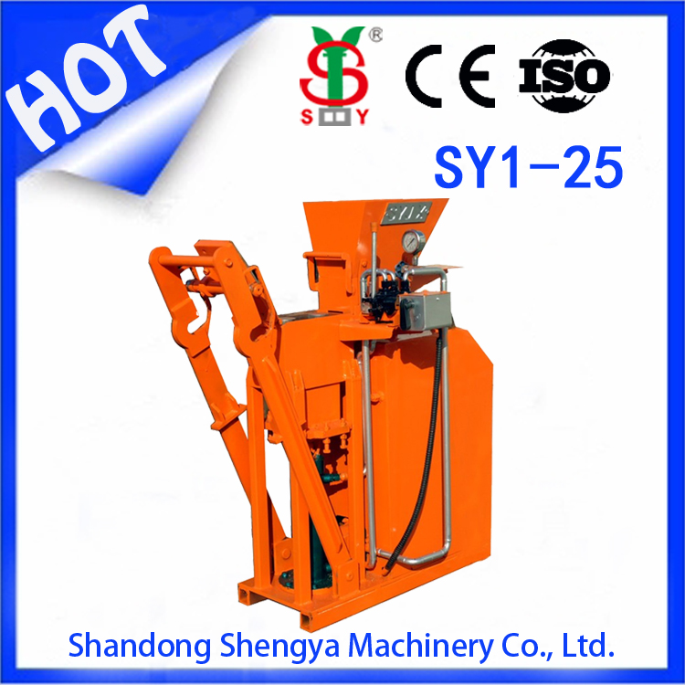 eco brava sy1-25 hand operated compressed earth block machine