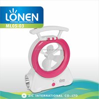 LONEN high quality rechargeable emergency indoor outdoor plastic hand fan