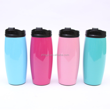 Double wall stainless steel insulated car cup sealed leakproof stainless steel water bottle vehicle coffee mug