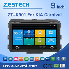 For Kia Carnival dvd gps spare parts car radio with Steering wheel control GPS Rearview camera SD card with IGO map DVD USB/SD