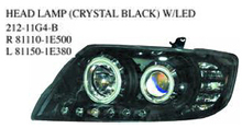 212-11G4-B OEM 81110-1E500 81150-1E380 FOR TOYOTA COROLLA 2005 MIDDLE EAST Auto Car head lamp head light(crystal black w/led)