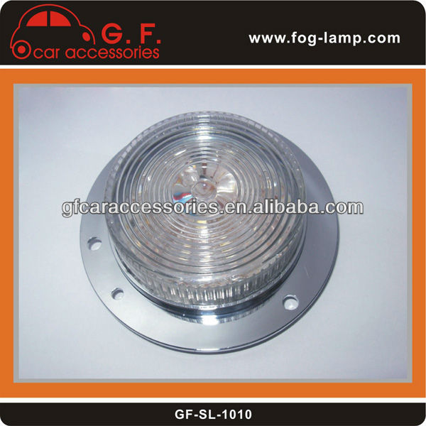 Chrome 24V LED signal light for truck