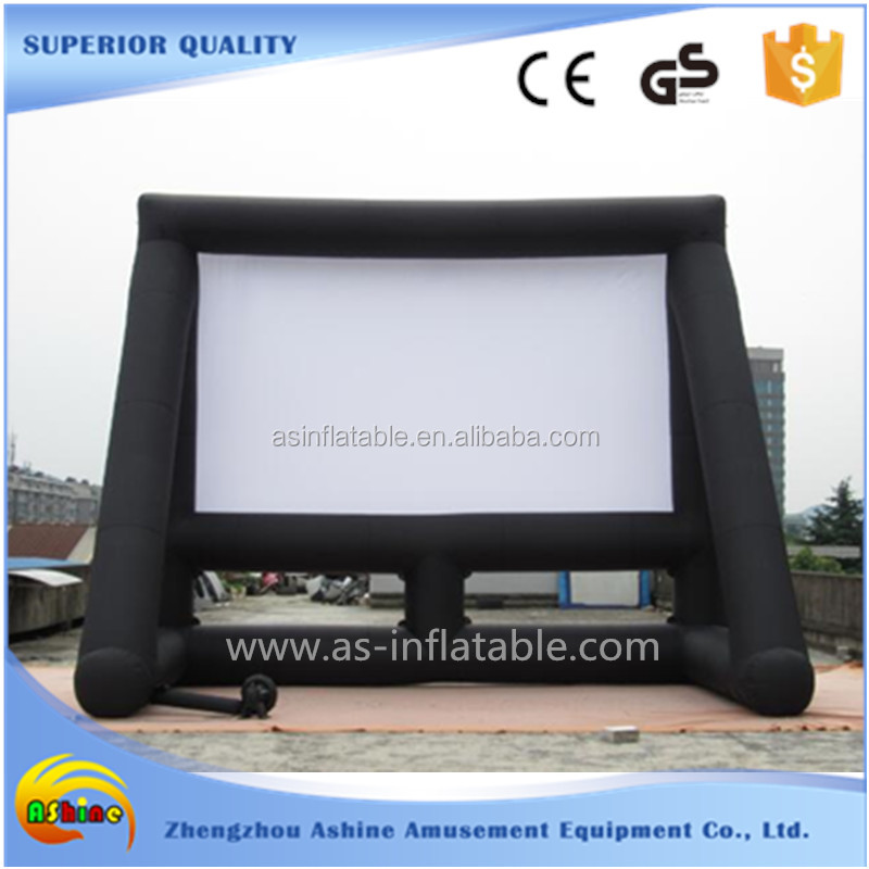 outdoor cinema seamless projection inflatable screen air screen
