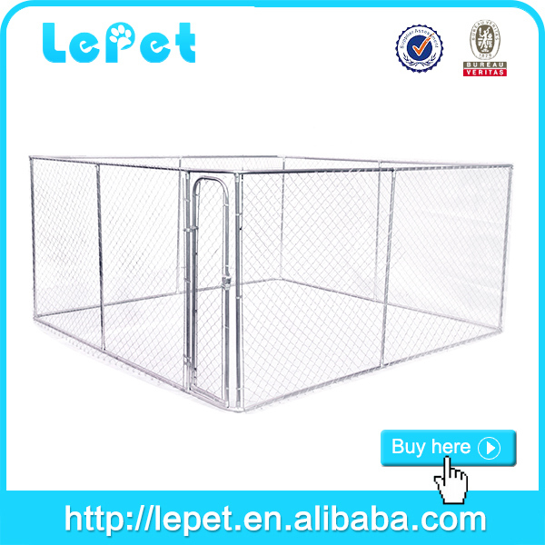 black panel expanded metal dog cage