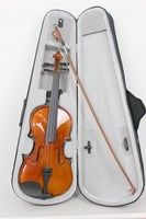 Painted Flamed Plywood Student Violin for beginner V-MN02