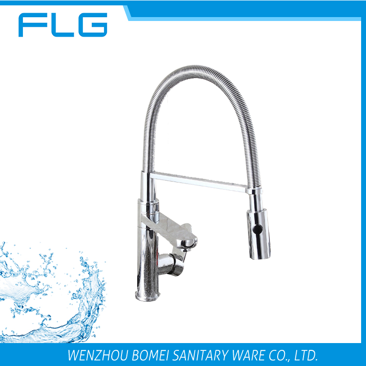 Pull Down Spray Mixer Tap Kitchen Faucet With Led Light