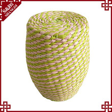 New drum design eco-friendly handmade paper string cheap high stools