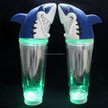 23OZ led flashing double wall tumbler plastic cup