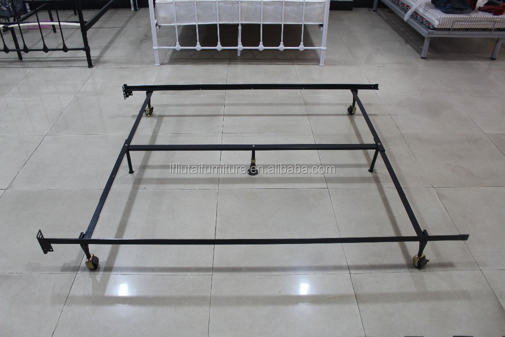 Heavy Duty Metal 7-Leg Adjustable Queen Full Twin Bed Frame With Center Support & Glides