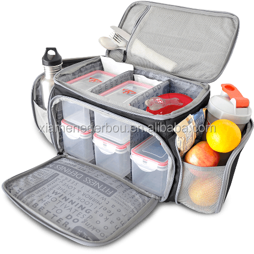 Full Meal Management bag includes Portion Control Meal Prep Containers + Ice Pack