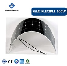 high efficiency solar module 100w semi flexible solar panel