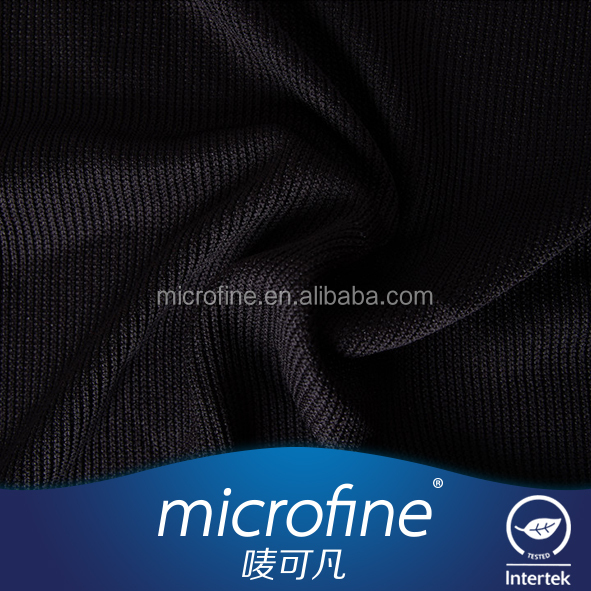 China Best Workmanship Black Coarse needle rib 100% Polyester Printed Suiting Fabric