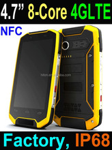 2016 4.7 inch MSM8939 Octa core 4G Rugged Smart Phone, Rugged Smartphone with Android 4.4 NFC IP68