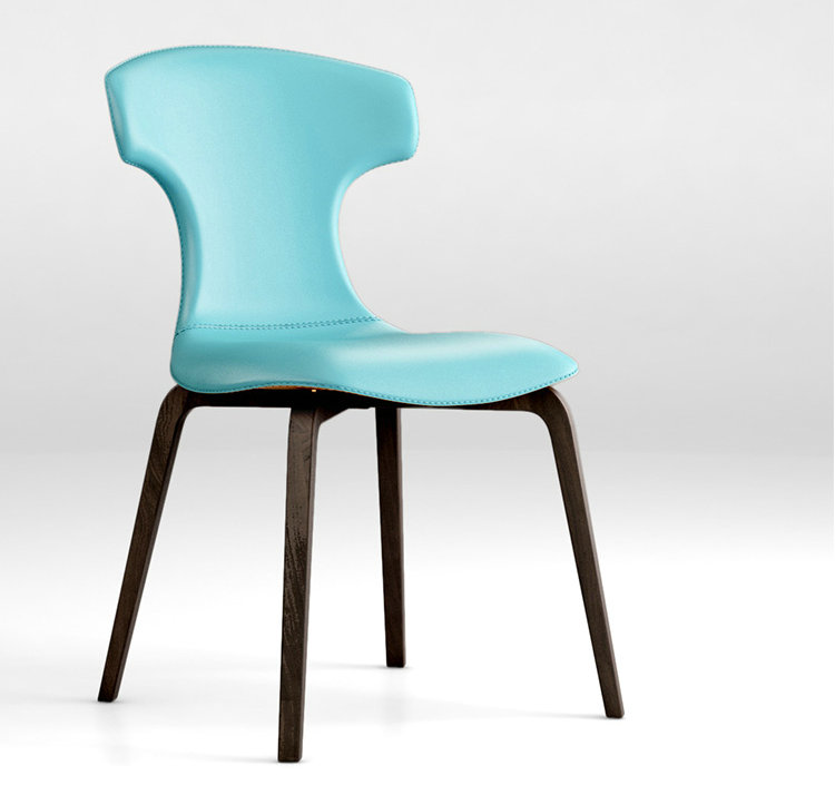 luxury living room furniture <strong>leather</strong> Montera chair by Roberto Lazzero