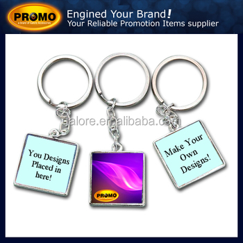 newest style customized promotional metal picture frame key chain