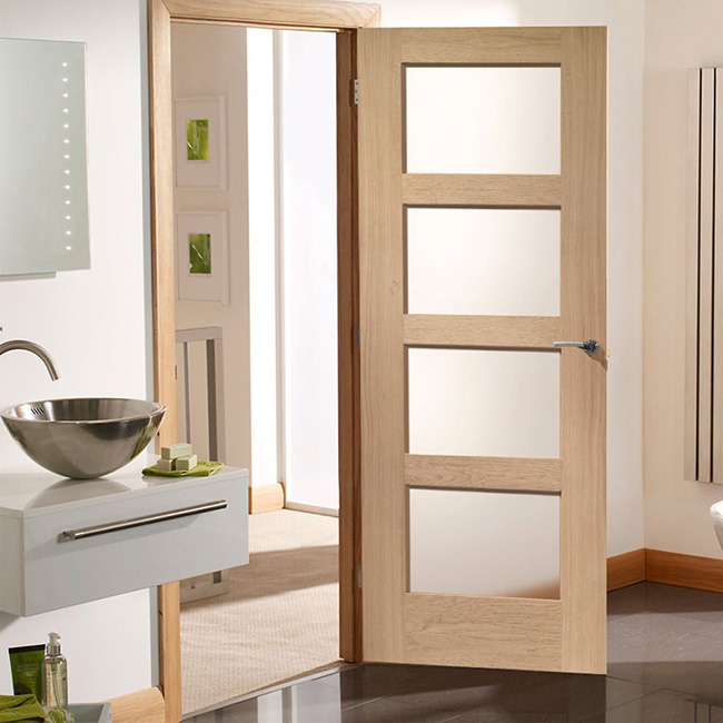 Excellent quality fiberglass bathroom door