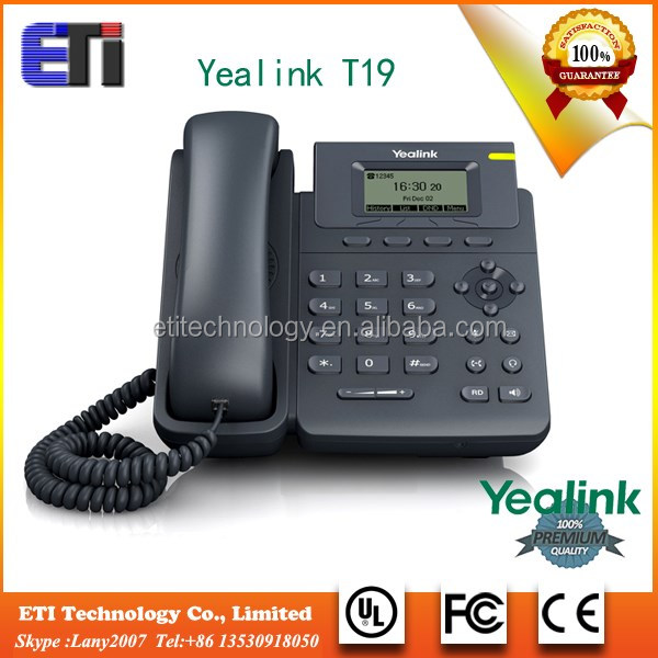 Yealink T19PE2 OEM New Single VoIP account voip phone services