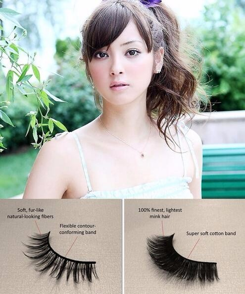 Wholesale magnetic flap box natural lunxury 3D volume mink eyelash,3D mink fur strip lash