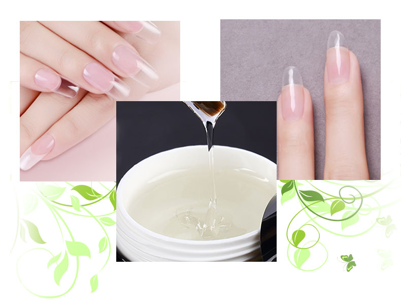Private Label Strong Nail No Burn Extremely Flexible Soak Off Sculpture Clear Builder Gel